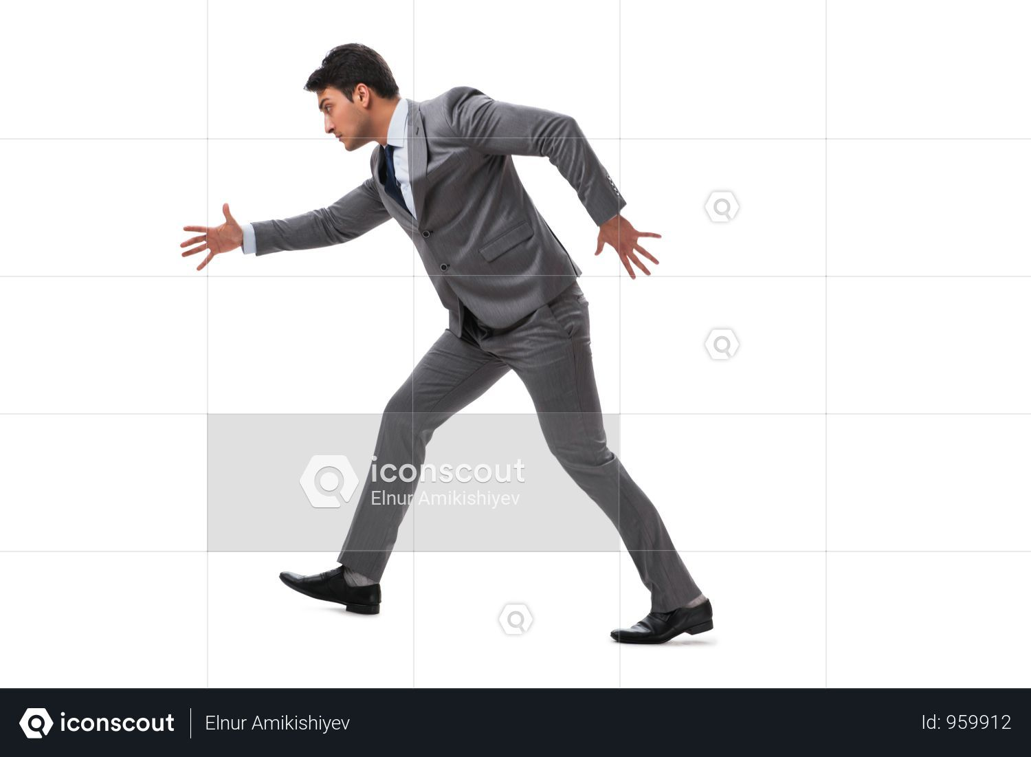 Premium Young Businessman Running Forward Isolated On White Photo Download In Png Jpg Format Business Man Business Photos Photo