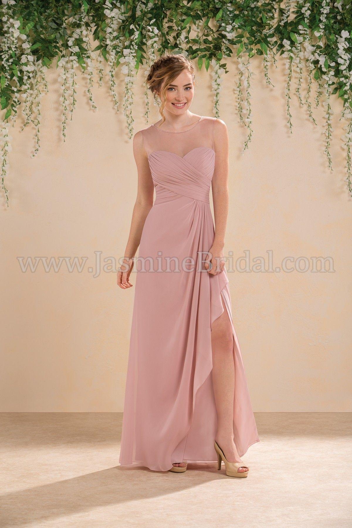 Jasmine Bridal Bridesmaid Dress B2 Style B183013 in Misty Pink ...