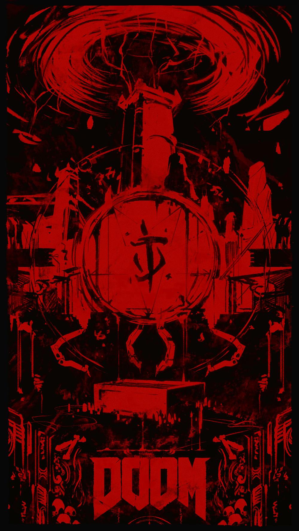 Artstation Doom 2016 Triptych For Noclip Aurahack Doom 2016 Doom Videogame Doom 4