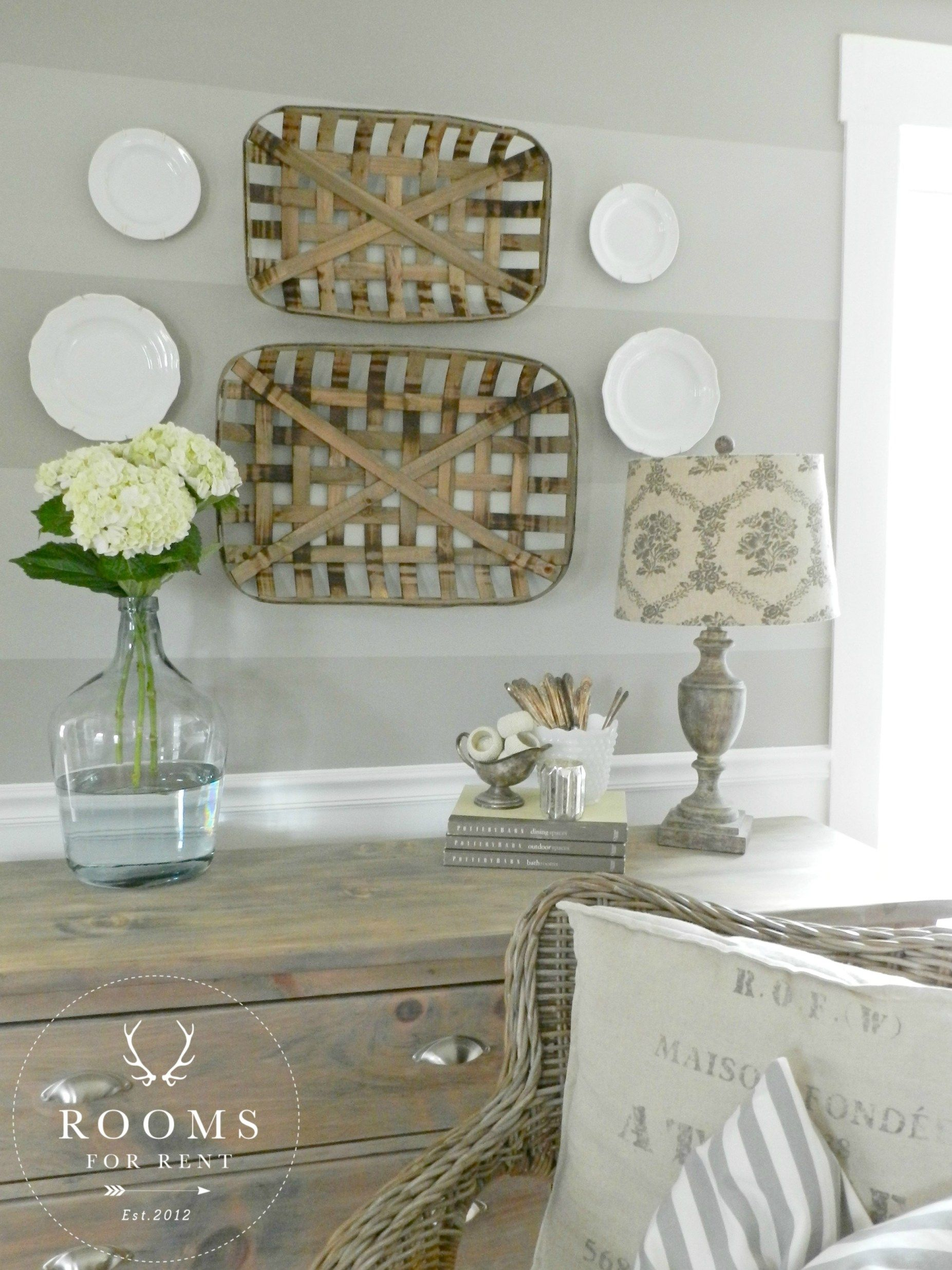 Wall Baskets Decor tobacco baskets wall decor & a giveaway! - rooms for rent blog
