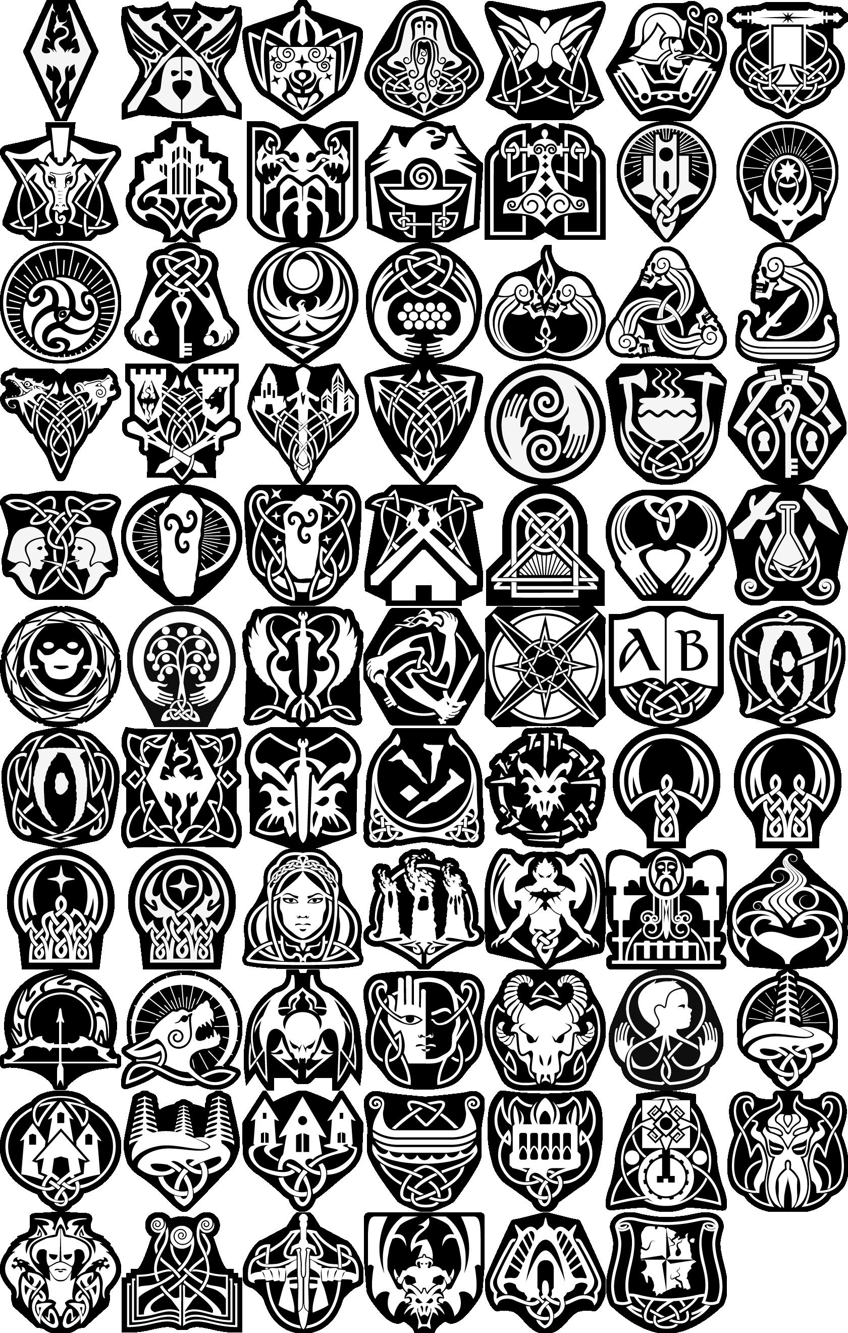 Skyrim Tattoo Stencil: Skyrim Tattoo, Elder Scrolls Tattoo
