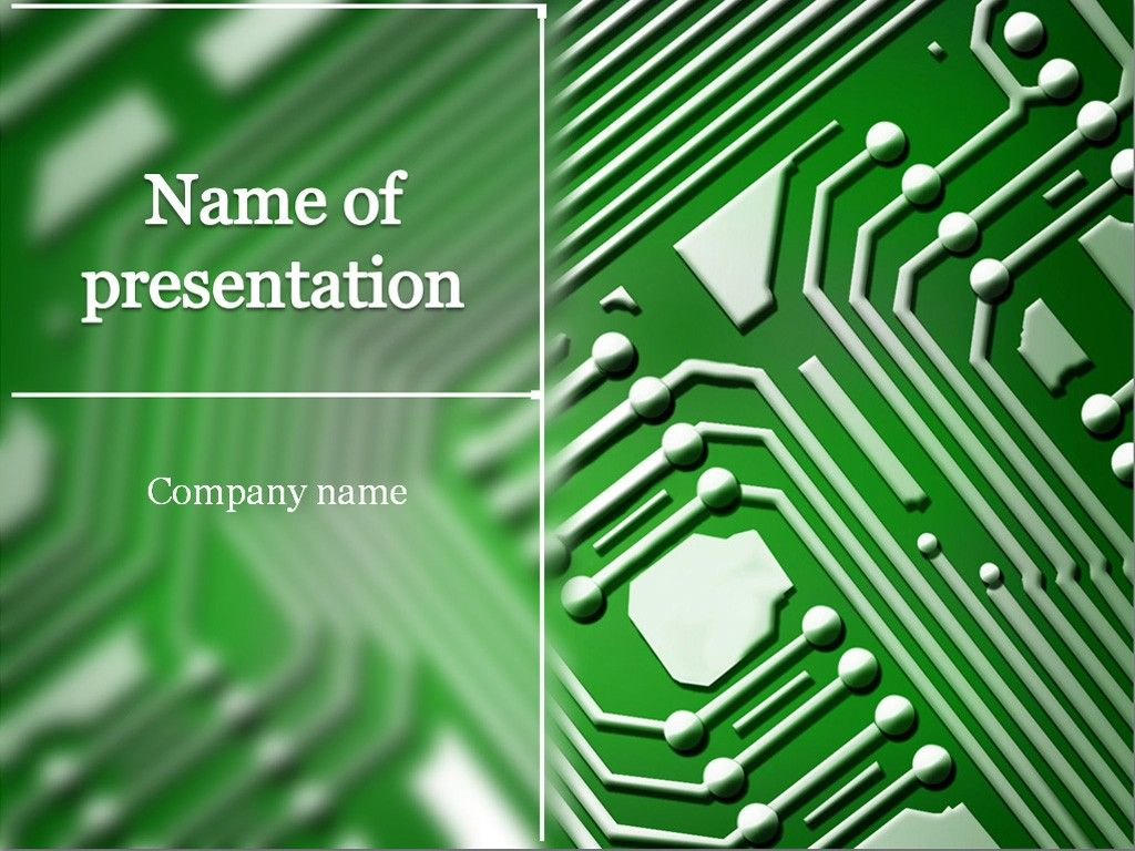 microchip powerpoint template | templates | pinterest | template, Presentation templates