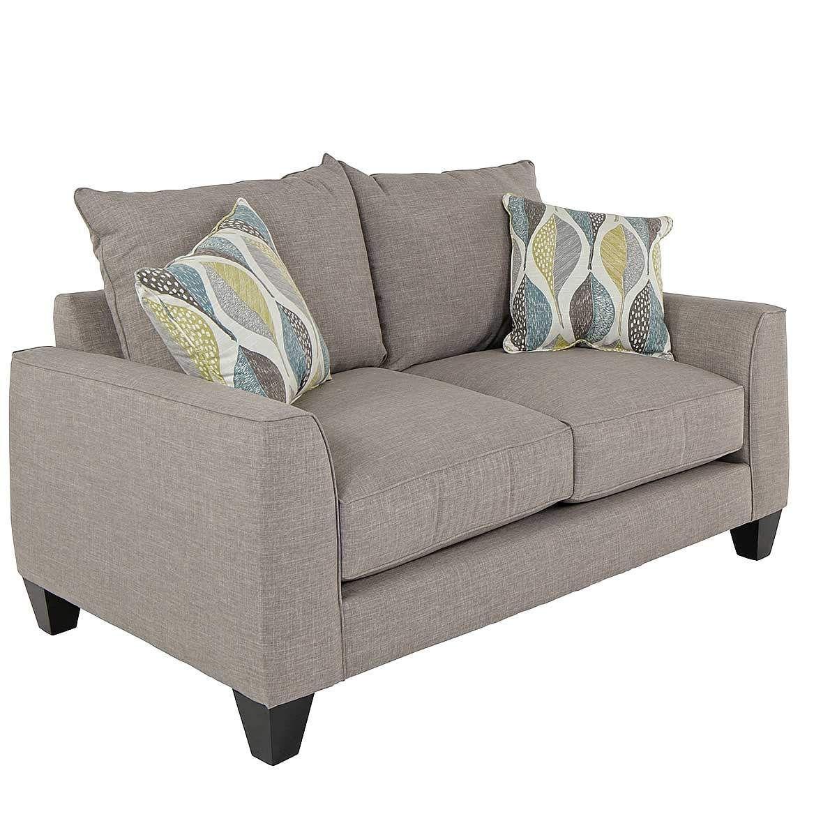 Astounding Celeste Loveseat In Grey Jeromes Furniture 66X40D X37H Ibusinesslaw Wood Chair Design Ideas Ibusinesslaworg