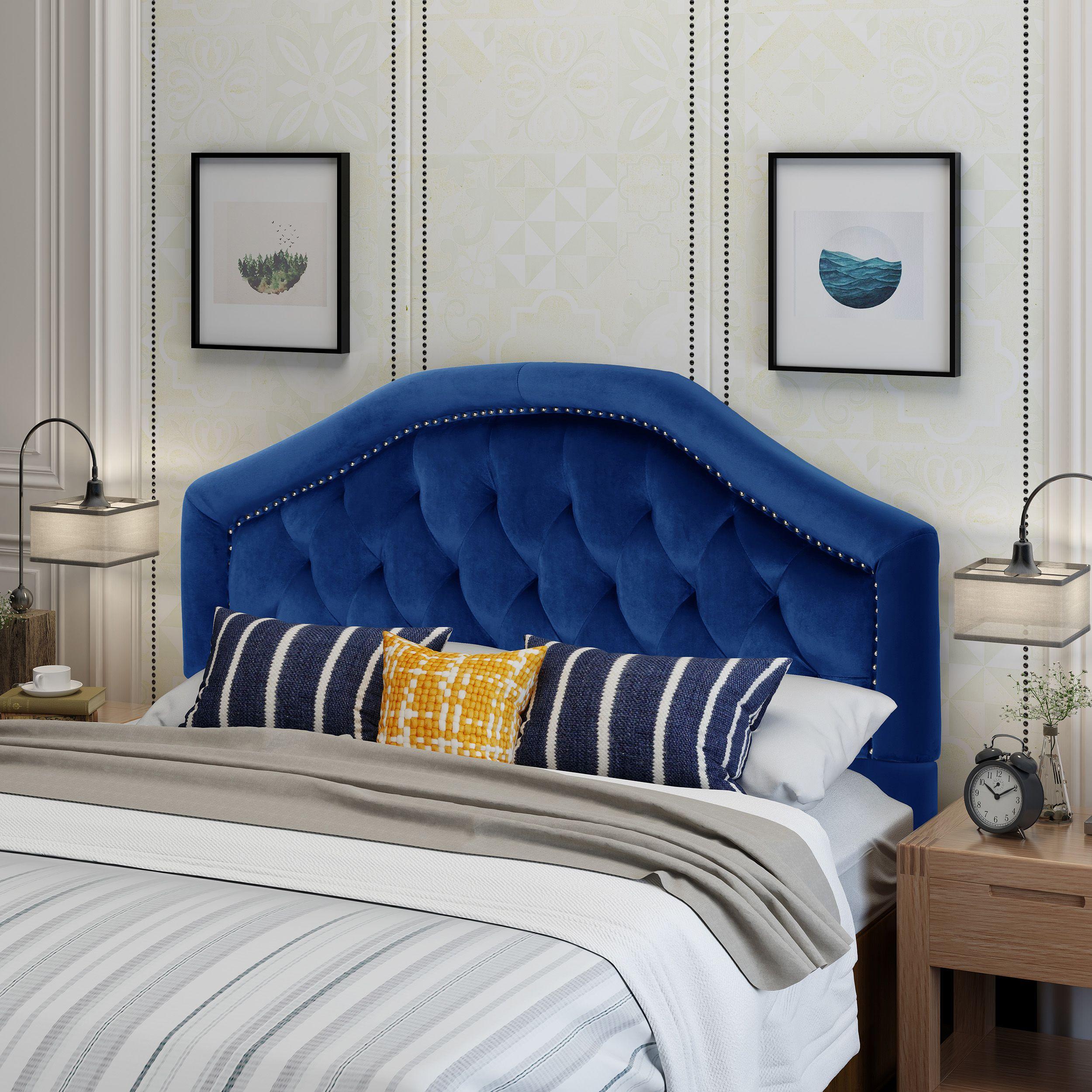 Home Full headboard, Black headboard, Headboards for beds