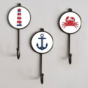 Nautical Sea Boat Themed Coat Hooks. Choose From Our Range Of Nautical U0027at  Seau0027 Coat Hooks. Perfect For Brightening Up Bathroom Walls, Hallways, ...