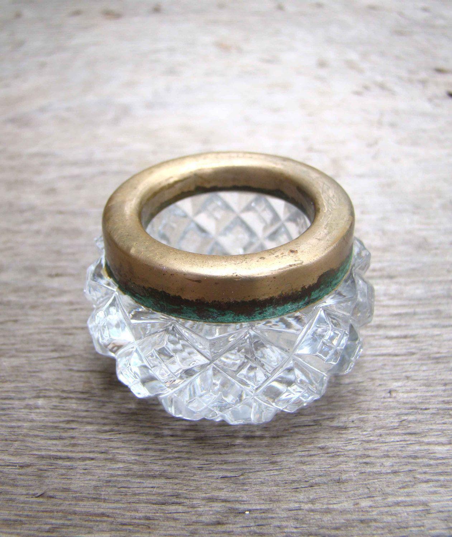 Vintage Soviet Crystal Salt Cellar Russian Salt Shaker Crystalline Pot for salt Soviet Union USSR Collectible