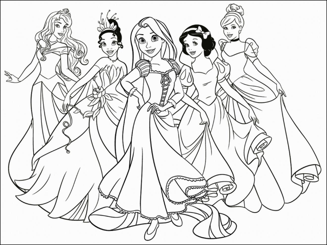 Immagini Principesse Da Colorare.Disegni Da Colorare E Stampare Principesse Disegni Da Stampare