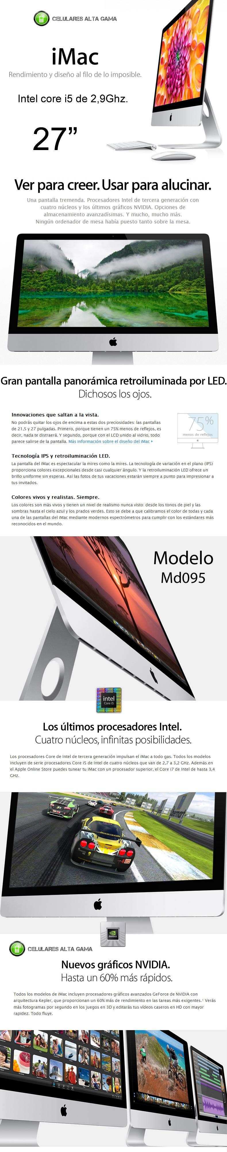 """Comprar nueva imac md095 con 27"""" / venta imac md095 en argentina"""