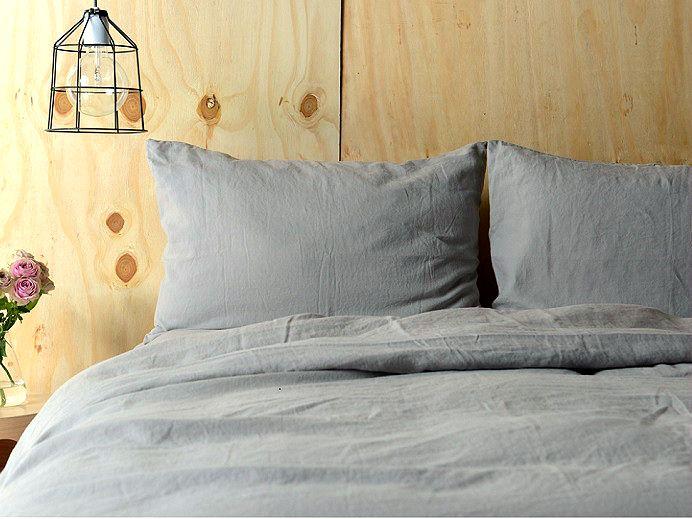 Light Grey Pure Linen Duvet Cover 1a Jpg