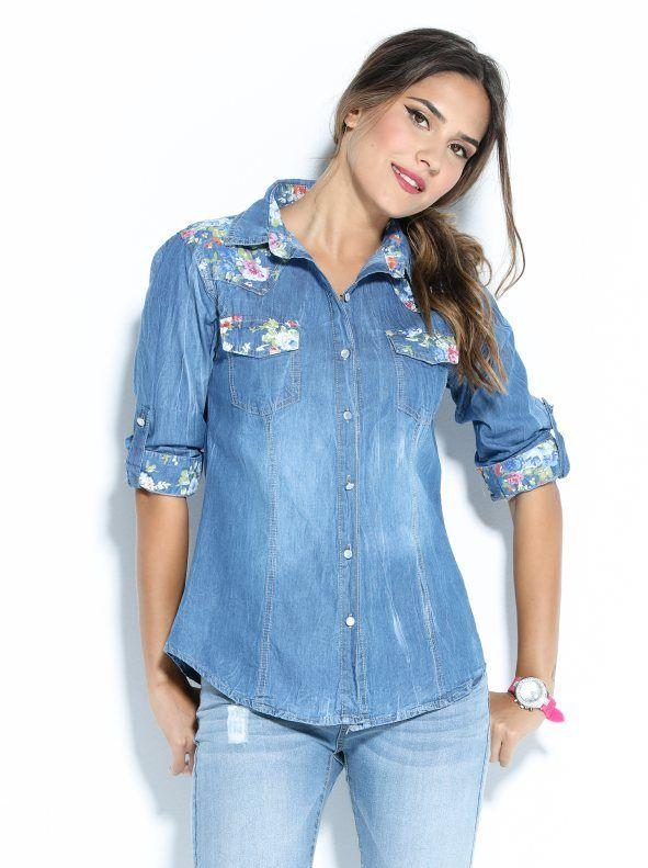 Camisa Clothes Vaquera Floral Con Changing Estampado Mujer rrzqw7