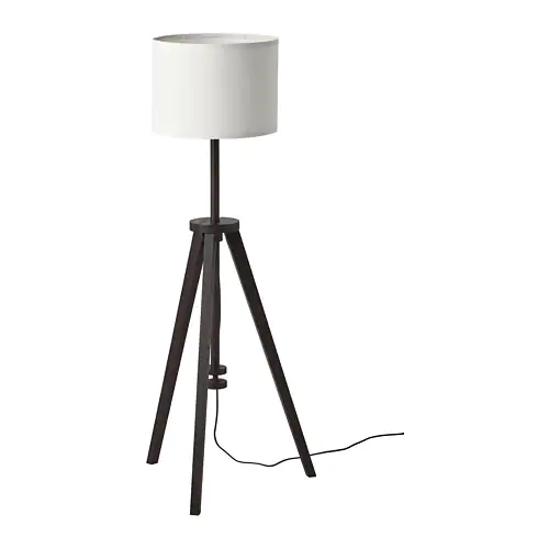 Lauters Floor Lamp With Led Bulb Brown Ash White Ikea In 2021 Floor Lamp Lamp White Floor Lamp