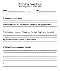 Image result for 3rd grade book report template pdf | Writing ...
