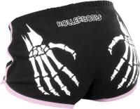 Rollerbones Shorts Booty Derby (Black / Pink) - Roller Rerby Clothing
