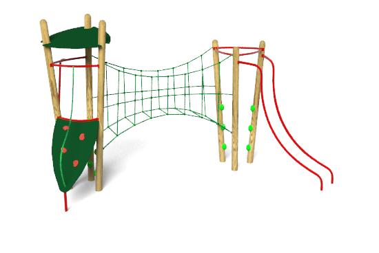 The Xplorer 2 Climbing Frame includes, Sliding Poles, Net Canyon ...