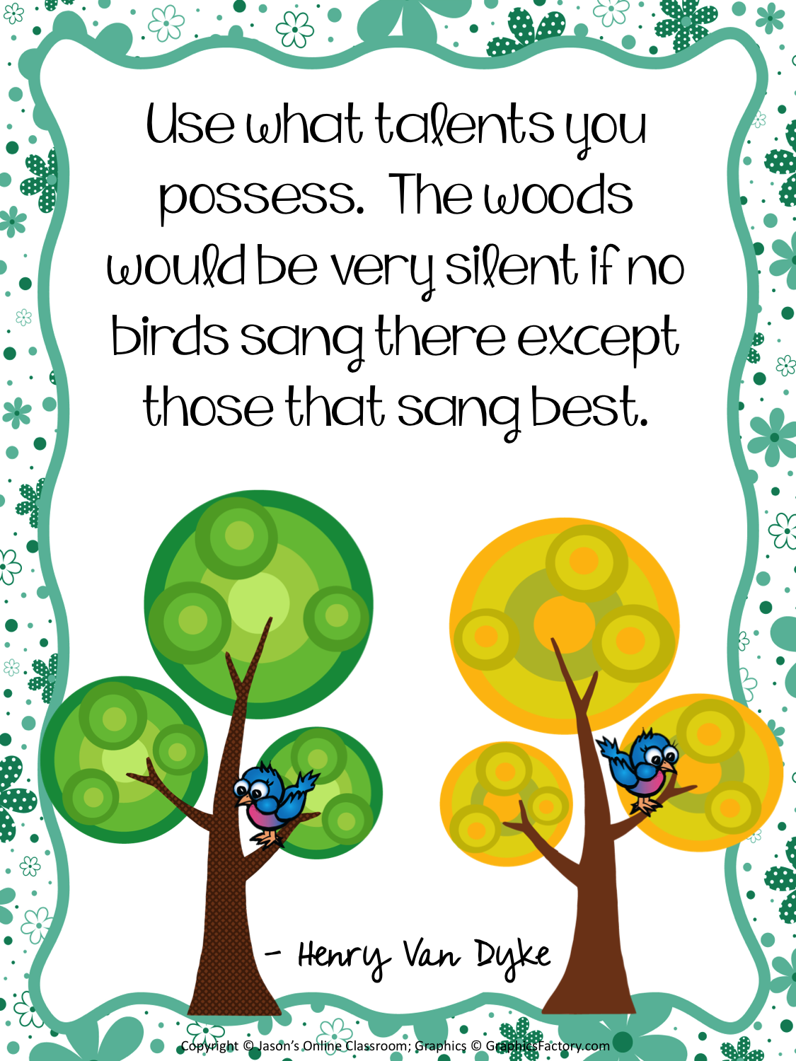 10 free inspirational quotes classroom posters 8 5 x 11