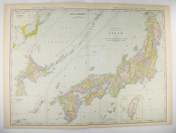 1912 very large map of japan vintage japan map taiwan map 1912 very large map of japan vintage japan map taiwan map japanese decor gumiabroncs Image collections