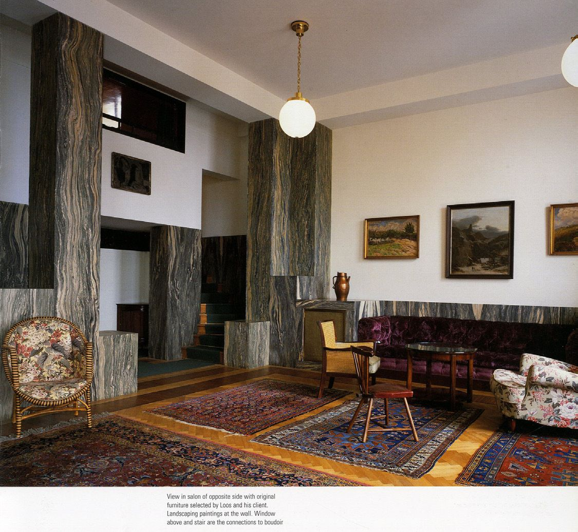 I do not draw plans facades or sections adolf loos and for Designburo loos