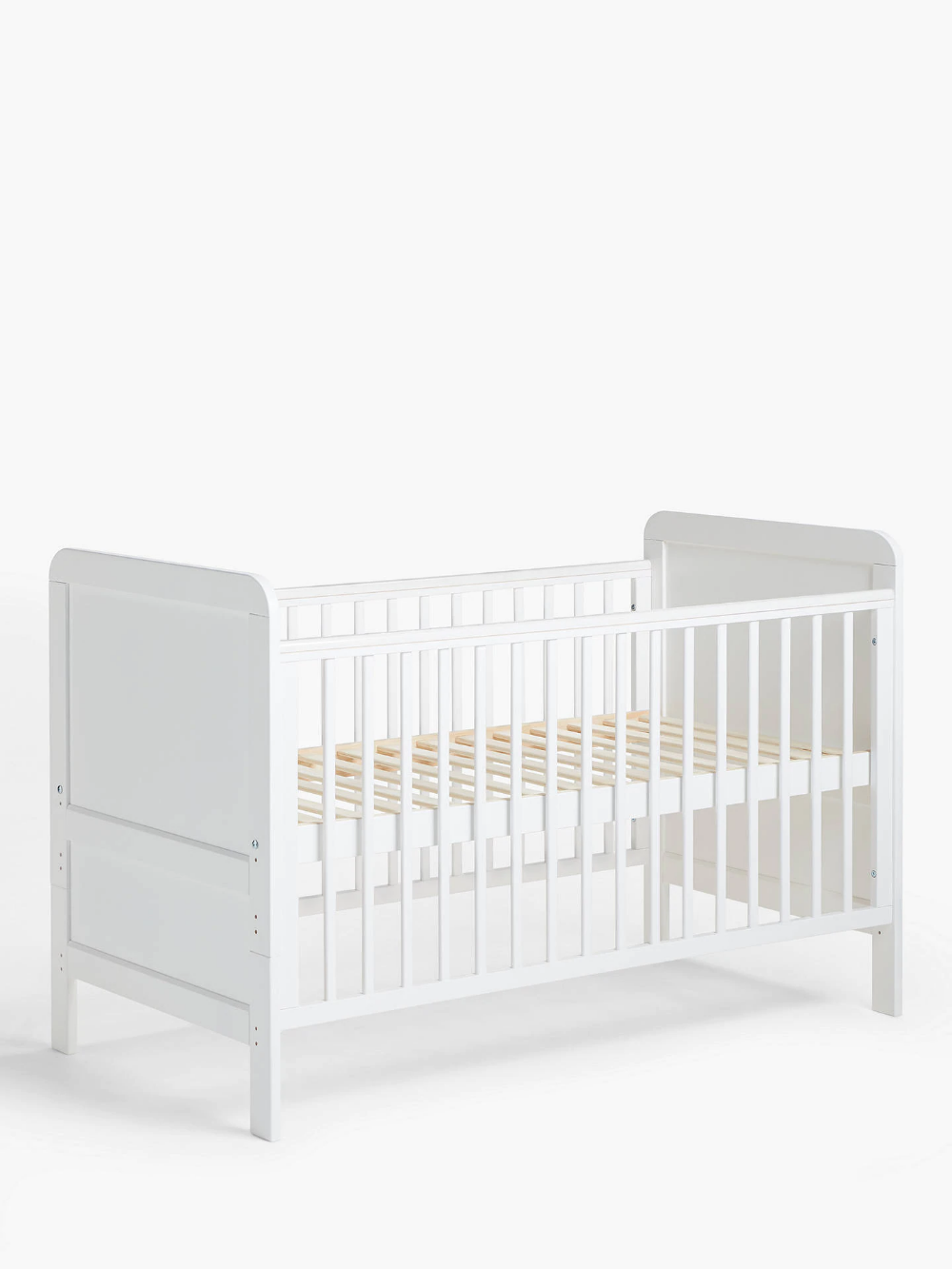 John Lewis & Partners Alex Cotbed, Solid White Mattress