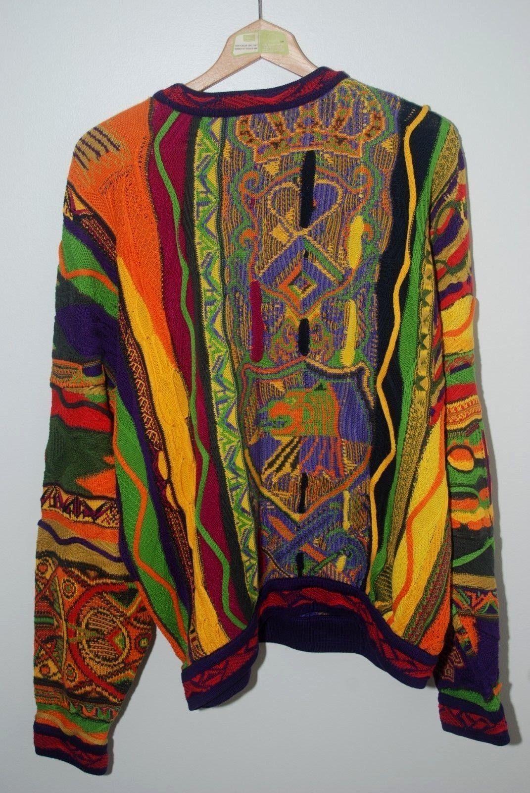 d35d6fdff7e Vintage Cuggi Coogi Sweater Australia Lion Crest Biggie XL