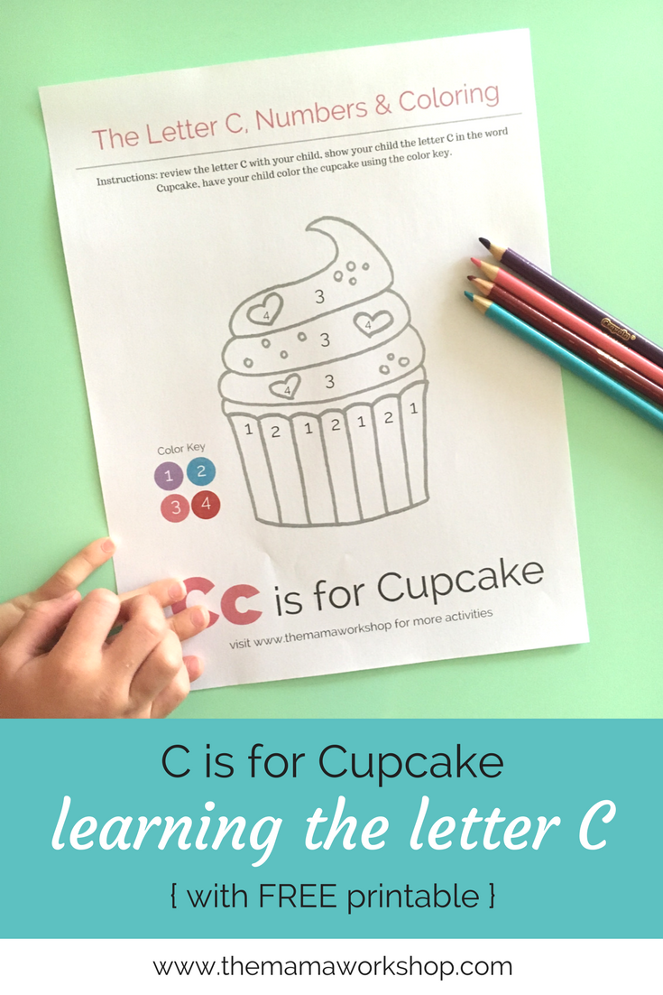Letter C Activity Worksheet #birthdaymonth