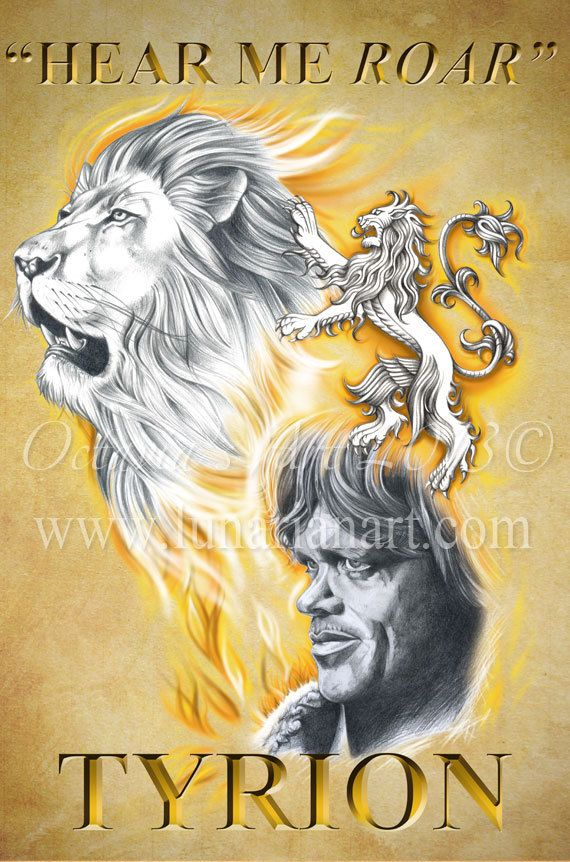 Tyrion Lannister Fan Art  Game of Thrones  Hear Me by Lunarianart, £4.99