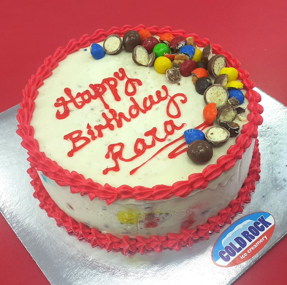 Happy Birthday Rara From All Of Us At Cold Rock Aspley Ice