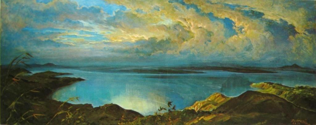 Basoeki Abdullah Telaga Toba Diwaktu Senja Art Paintings