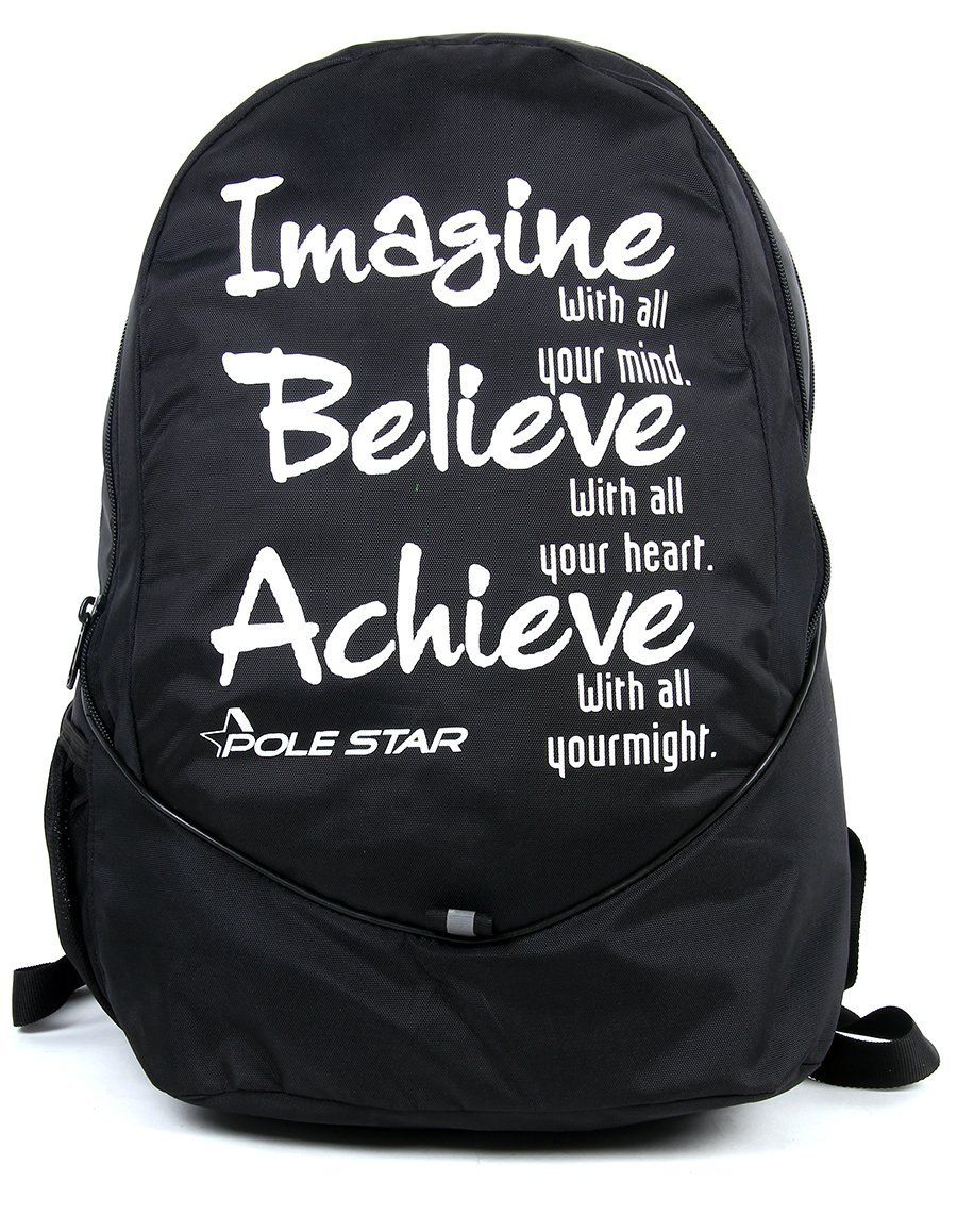 97c05cd61daf4e POLE STAR 30 Ltr Polyester Black Casual Backpack  Amazon.in  Bags ...