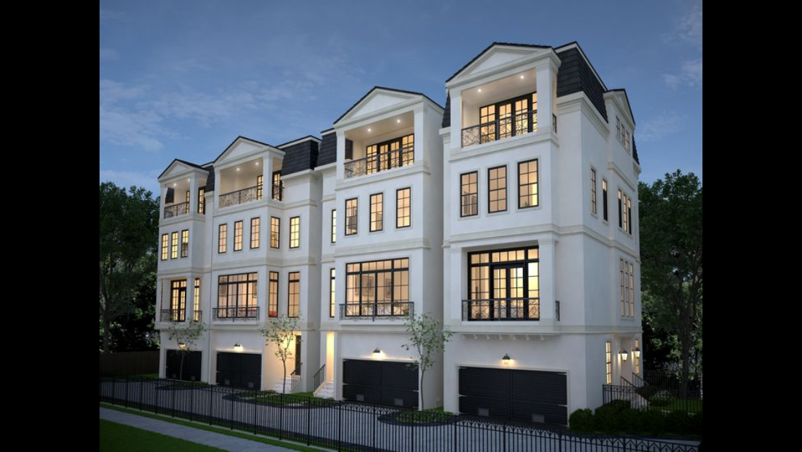 Houston Tx Properties Brownstone Homes Townhouse Designs Townhouse Exterior