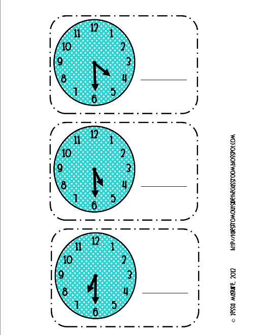 FREE printable Telling Time to the hour. | Telling Time | Pinterest ...