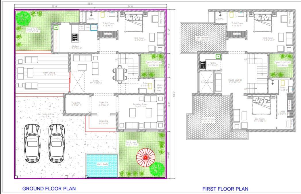 Plot 52 X58 North Facing 3bhk Duplex Home Planning In Haldwani 2bhk House Plan Sims House Plans Model House Plan