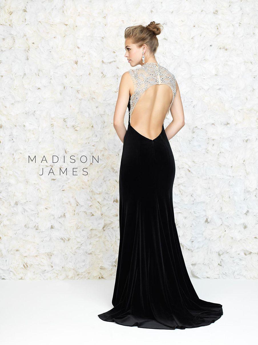 fall high neck black velvet evening dress formal long split leg