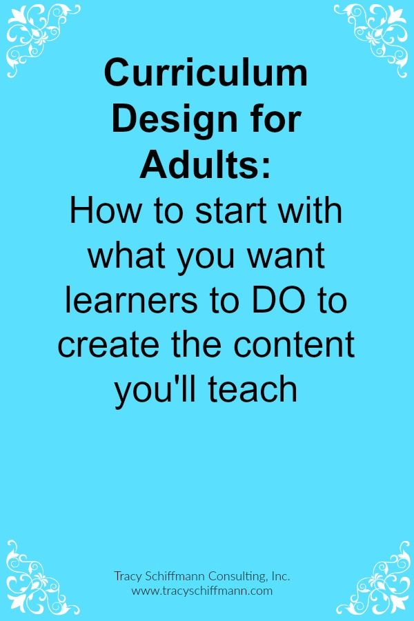 Trauma Room Design: Curriculum Design For Adults: How To Start With What You