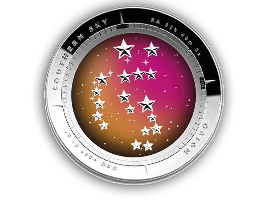 Orion Takes Flight Australian silver coin from our blog.