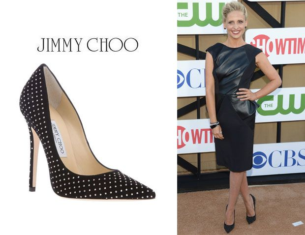 18f163231463 Sarah Michelle Gellar celebrity Jimmy Choo shoe style  fashion week   womensday
