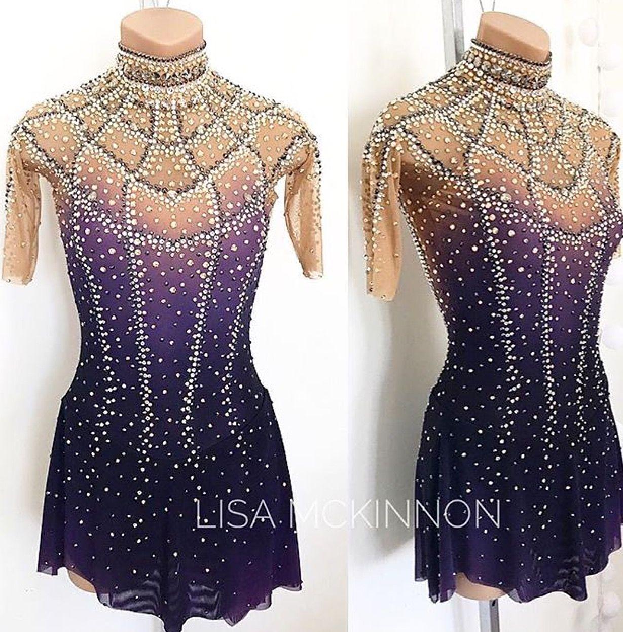 Lisa Mckinnon Custom Dress Patinaje Vestidos De