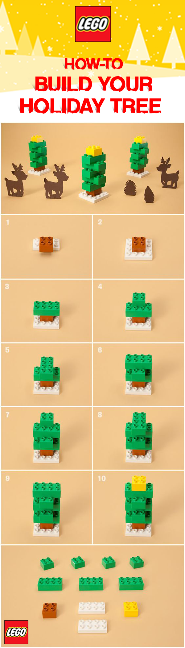 Easy Build Instructions To Create Your Own Lego Duplo Holiday Tree