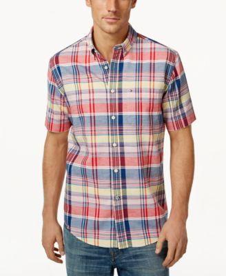 TOMMY HILFIGER Tommy Hilfiger Meli Plaid Short-Sleeve Shirt . #tommyhilfiger #cloth #down shirts