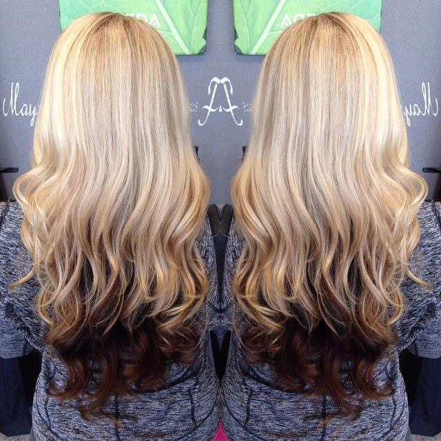 Blonde And Brown Hari Color