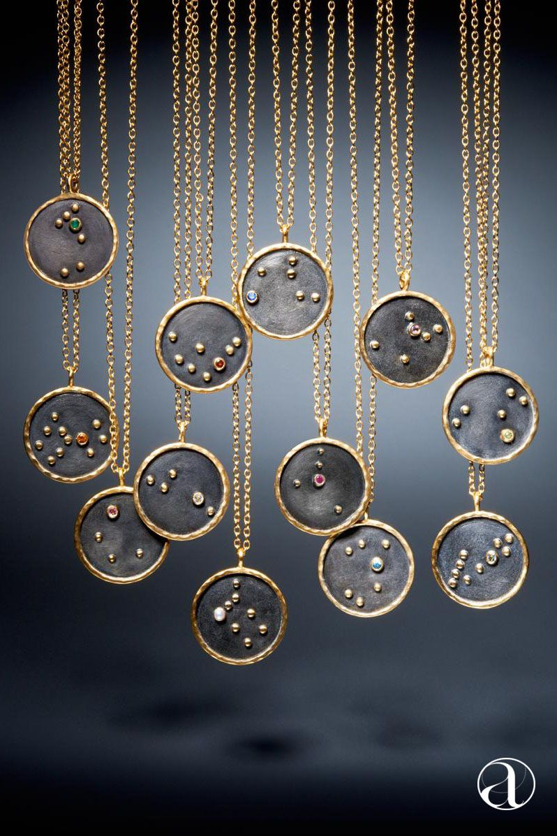 necklaces jewelry gorgeous jewellery zodiac inspired gold necklace astrology maje pendants