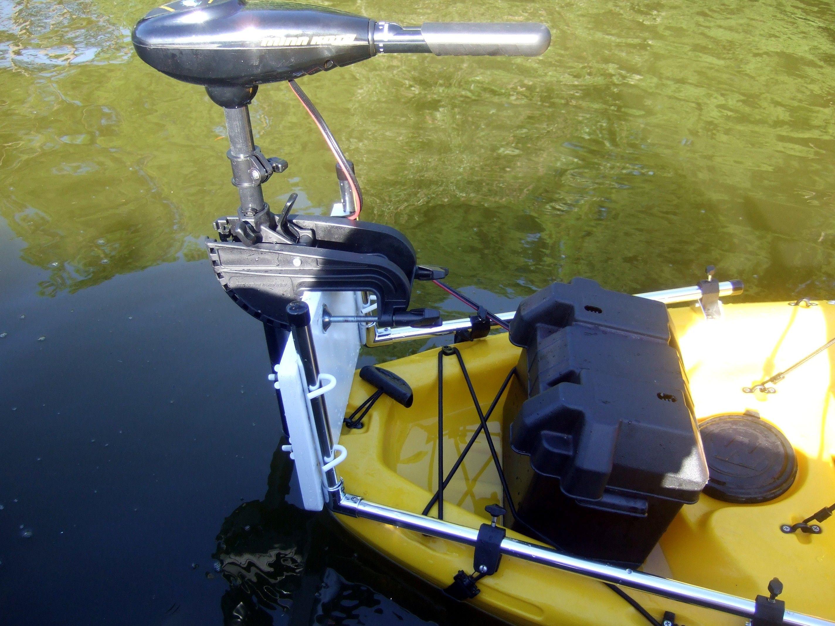 Universal Trolling Motor Bracket For Your Kayak Or Canoe Kayaking Inflatable Kayak Kayak Fishing Setup