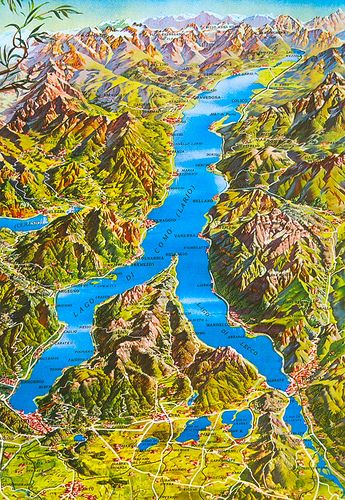 Lago Di Como Mappa 3 In 2020 Lake Como Italy Italy Map Italian