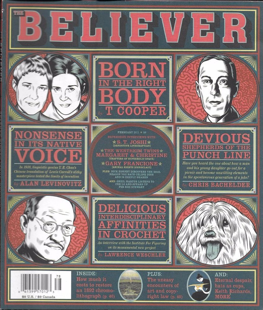 Believer magazine Nonsense in the native voice Born in the right body  Crochet   Make em laugh, Animal rights movement, Laughing so hard