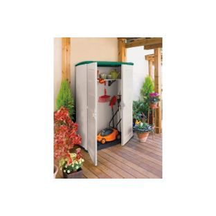 keter medium high plastic garden shed from homebasecouk - Garden Sheds Homebase