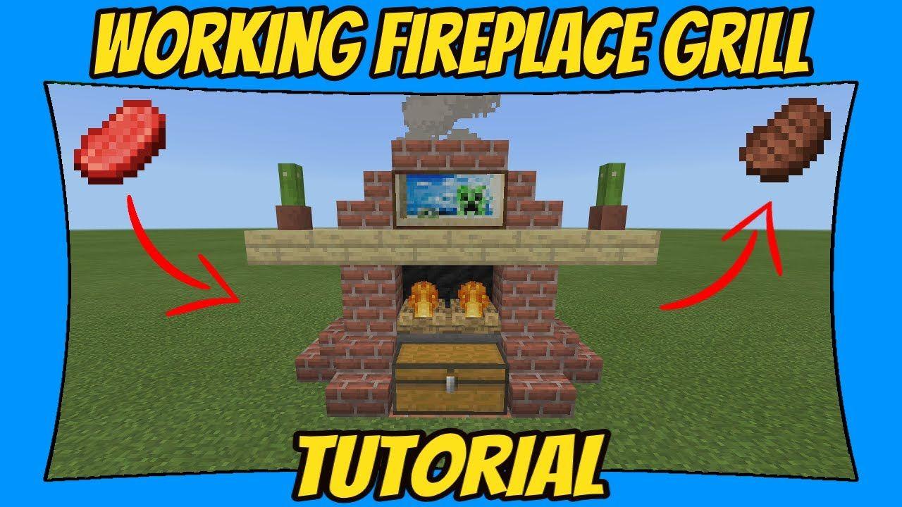 Working Fireplace Grill Tutorial [Minecraft Bedrock