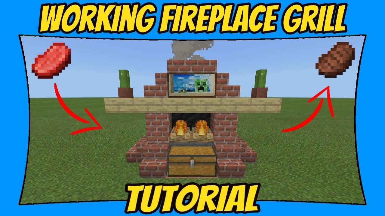 Working Fireplace Grill Tutorial Minecraft Bedrock Edition Mcpe
