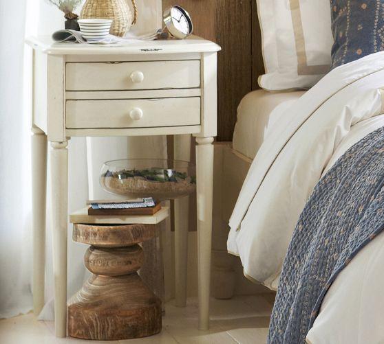 charlotte bedside table 200 bedroom pinterest pottery barn and nightstands. Black Bedroom Furniture Sets. Home Design Ideas