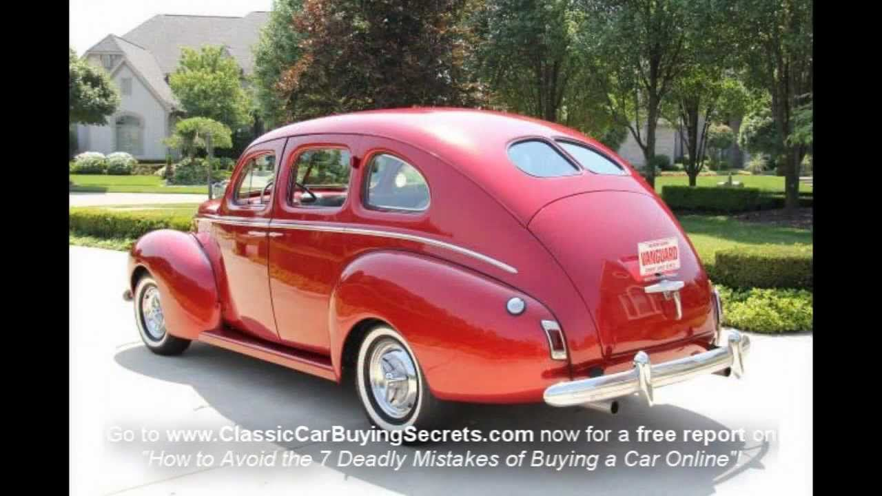 1940 Mercury 4 Door Sedan Classic Muscle Car for Sale in MI Vanguard ...