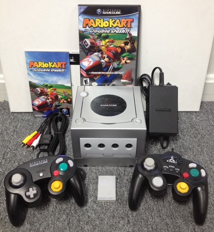 Nintendo Gamecube Mario Kart Silver Console Bundle W Nfr Game 2 Controllers 045496370114 Ebay Gamecube Nintendo Gaming Products