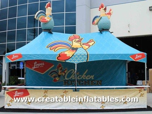10x20 Food Booth Tent Lowes Chicken Kitchen Fair Tales Tent